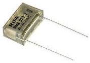 Mains suppressor and filter capacitors