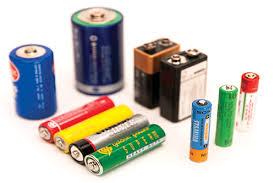 Standard battery types
