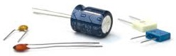 Standard through hole capacitors