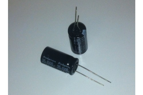 1000UF 35V 105°C TEMPERATURE RATED RADIAL CAPACITOR