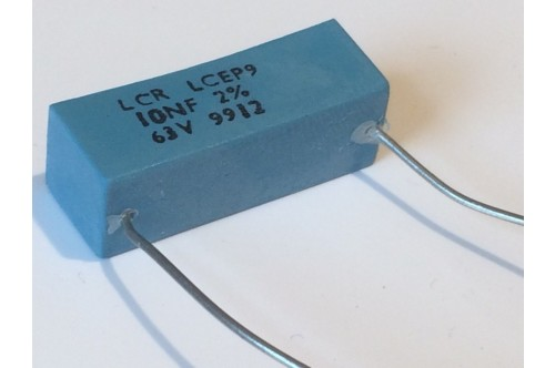 10nF 63V 2% LCR EXTENDED FOIL BOX POLYSTYRENE EP9 CAPACITOR ad2r16