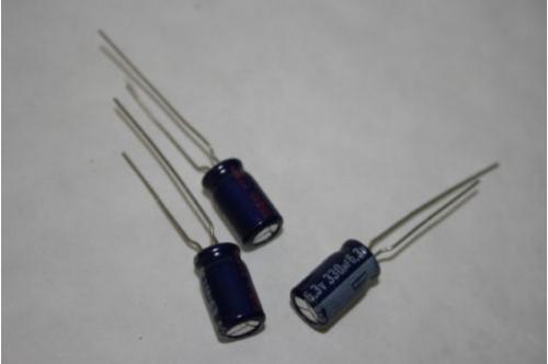330UF 6.3V MINATURE RADIAL ELECTROLYTIC
