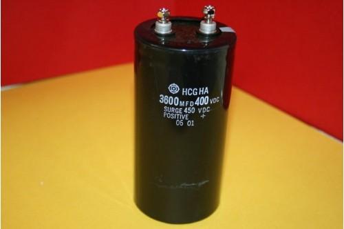 3600MFD 400 - 450VDC HITACHI POWER CAPACITOR