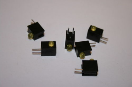 3MM YELLOW RIGHT ANGLE LED