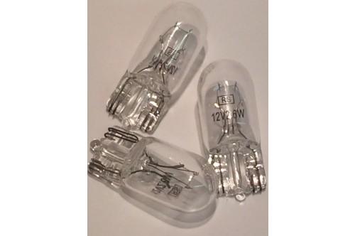 12v 2.6w WEDGE CAPLESS BASE LAMP BULBS T3 BEST RS QUALITY 106-228