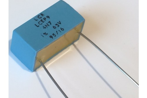 4.7nF 63V 1% LCR EXTENDED FOIL BOX POLYSTYRENE EP9 CAPACITOR ad2r17