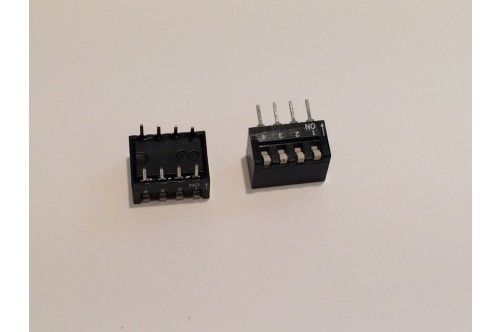 4 WAY DIL SWITCH PCB MOUNT bsa7bq