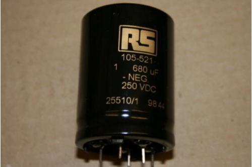 680UF 250V RADIAL ELECTROLYTIC