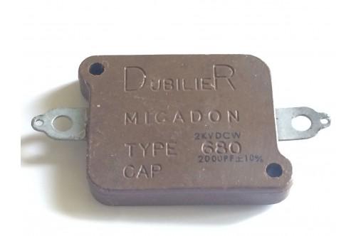 DUBILIER MICADON TYPE 680 2000pF 2KV SILVER MICA