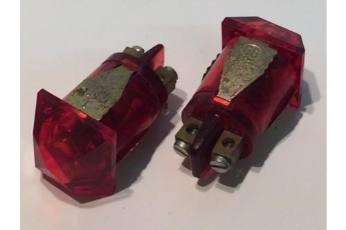 1960's RED POWER NEON BIG JEWEL LENS