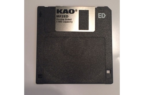 KAO MF2ED 2.88MB 4MB 3.5 INCH EXTRA DENSITY FLOPPY DISC