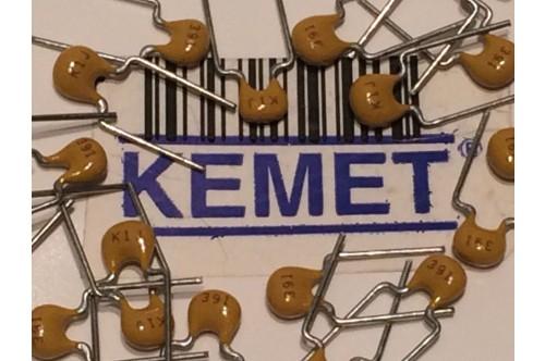 KEMET 390pF 100V 5% MLC CAPACITOR (x10)