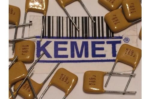 KEMET BEST QUALITY MULTI LAYER CERAMIC CAPACITOR 15nF .015uF 100V 5% (x8) fbb25n