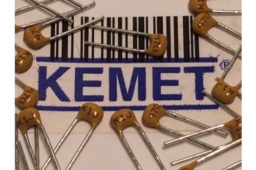 KEMET CLOSE TOLERANCE MULTI LAYER CERAMIC CAPACITOR 47pF 200V 5% (x5) fbb25u