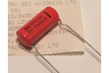 0.05uF 600V VINTAGE SPRAGUE ORANGE DROP CAPACITOR 6PS-S50