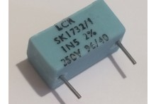 1.5nF 1500pF 250V 2% LCR EXTENDED FOIL BOX POLYSTYRENE CAPACITOR ad2r20