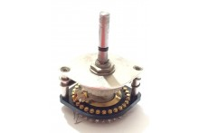 1 POLE 20 WAY ELCOM VINTAGE GOLD PLATED ROTARY SWITCH