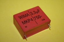 3.3UF 750V WIMA MKS4 METALLIZED POLYPROP CAPACITOR