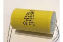 4uF 850V POLYPROPYLENE FILM MKP C.4G ARCOTRONIC CAPACITOR BI POLAR