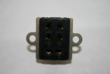 6 WAY PLESSEY SOCKET JONES FEMALE CONNECTOR