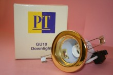 GU10 MAINS 240V BRASS DOWN LIGHT FITTING