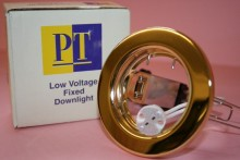 LOW VOLTAGE BRASS DOWN LIGHT FITTING