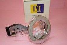 LOW VOLTAGE POLISHED CHROME DOWN LIGHT FITTING