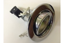 GU10 MAINS 240V POLISHED CHROME TILT LIGHT FITTING