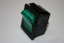 ILLUMINATED GREEN MAINS ROCKER SWITCH