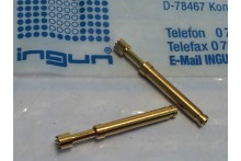 INGUN GKS-113 SERRATED FACE SPRING LOADED PIN TEST POINT GOLD PROBE (x3) fbb22.4