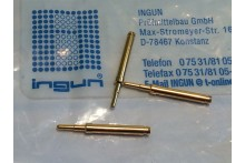 INGUN GKS-113 SPRING LOADED PIN TEST POINT GOLD PROBE (x10) fbb22.1