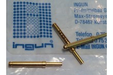 INGUN GKS-113 SPRING LOADED PIN TEST POINT GOLD PROBE (x5) fbb22.2
