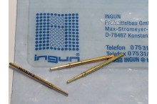 INGUN GKS-912 SPRING LOADED PIN TEST POINT GOLD PROBE (x10) fbb22.5