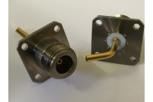 N TYPE CHASSIS FEMALE PANEL SOCKET - THICK BENT PIN