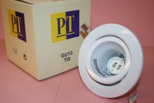 GU10 MAINS 240V WHITE TILT LIGHT FITTING