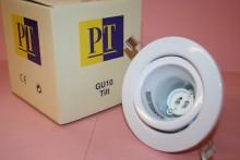 GU10 MAINS 240V WHITE TILT LIGHT FITTING SUPERIOR QUALITY