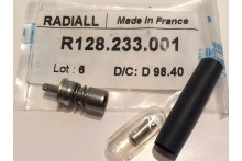 RADIALL R128233001 BMA CABLE MOUNT FEMALE CRIMP TYPE