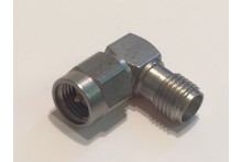 SMA RIGHT ANGLE ADAPTOR BEST ITT CANNON QUALITY MALE TO FEMALE fd5c16