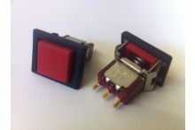 SQUARE RED CHANGEOVER MOMENTARY PUSH PANEL SWITCH