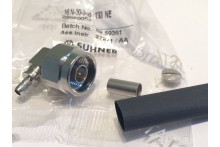SUHNER RIGHT ANGLE N TYPE MALE 50 OHM CRIMP
