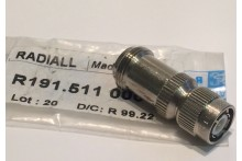 TNC MALE TO N TYPE FEMALE RF ADAPTER RADIALL R191.511.000