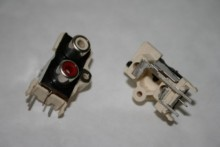 TWIN PANEL PHONO FEMALE RCA SOCKET