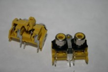 TWIN PANEL PHONO RCA FEMALE SOCKET YELLOW