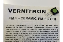 VERNITRON FM4 10.7Mhz CERAMIC FILTER