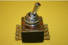 VINTAGE M.C.E CHROME TOGGLE SWITCH 4P ON OFF